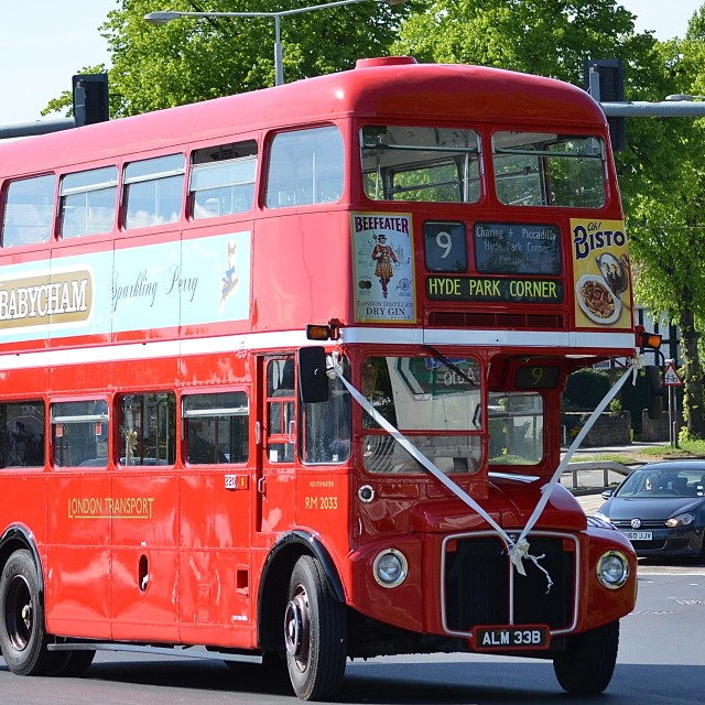 """ex london transport routemaster 2033 ALM 33B"" stock image"