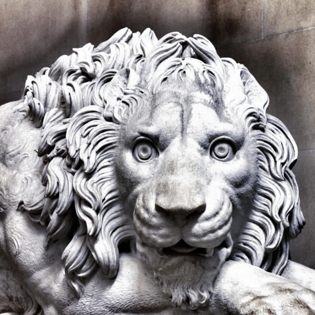 """Lion Statue"" stock image"