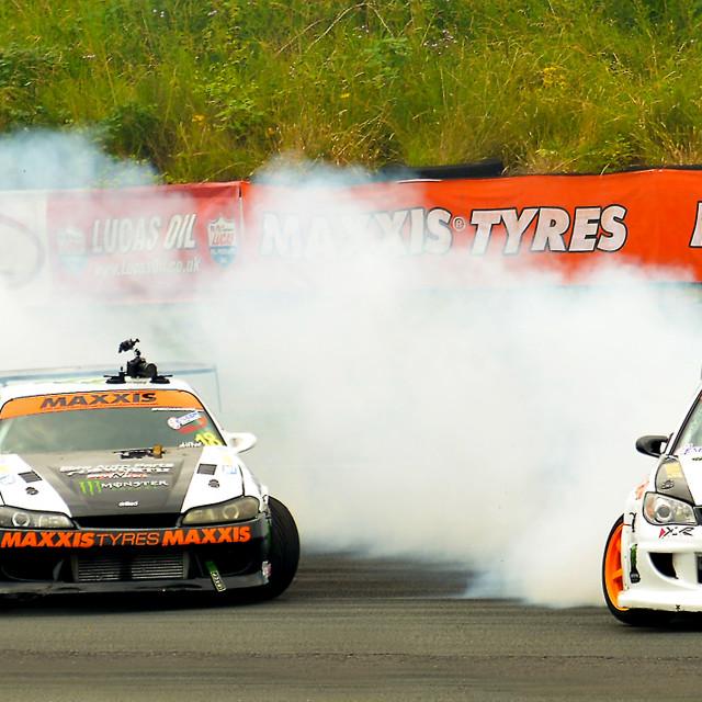 """British Drift Car Championship"" stock image"