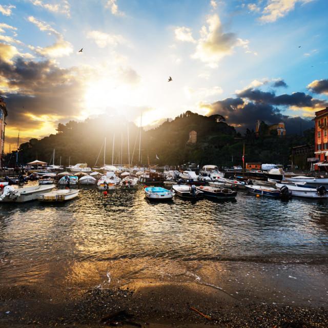 """Portofino Sunrise"" stock image"