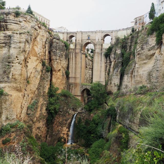 """""""New Bridge, Ronda"""" stock image"""