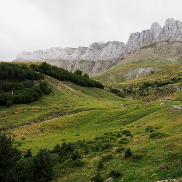"""""""Rio Veral Valley, Spanish Pyrenees"""" stock image"""