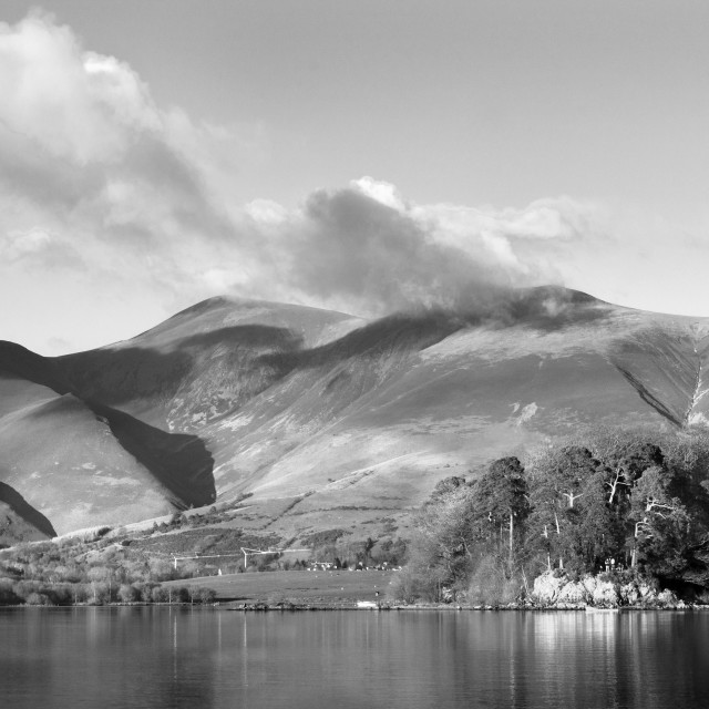 """Skiddaw Impressions 4 Black And White"" stock image"