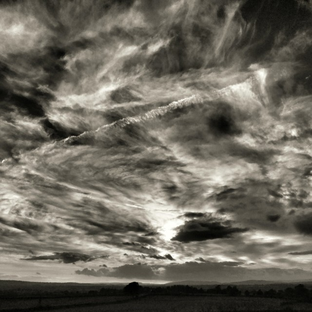 """Swirling sky"" stock image"
