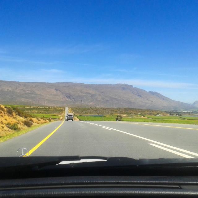 """Scenic Road Trip"" stock image"