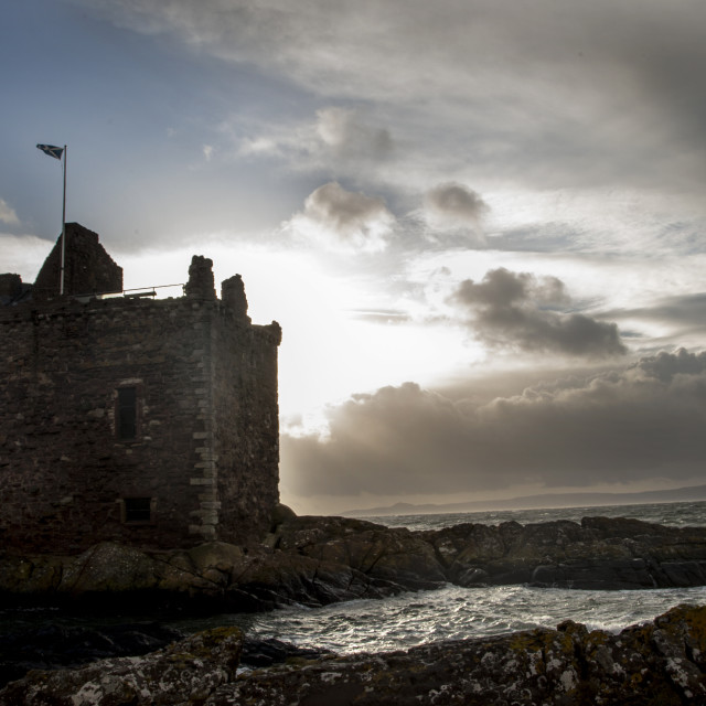 """Portencross castle"" stock image"
