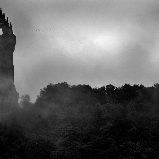 """Wallace Monument Black and white"" stock image"
