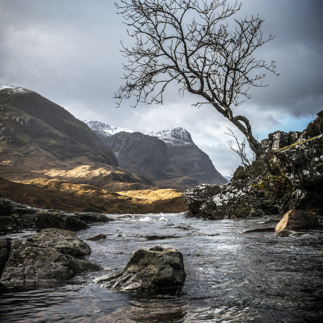 """Glen Coe II"" stock image"