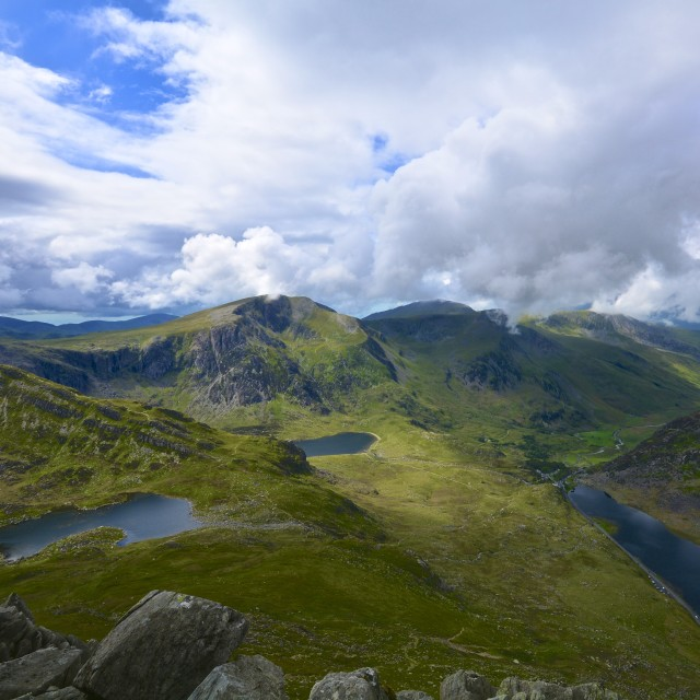 """Y Garn from Tryfan"" stock image"