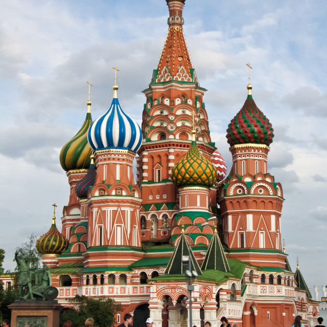"""St.Basil's cathedral at the Red Square in Moscow, Russia"" stock image"