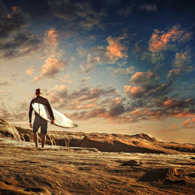 """The Surfer"" stock image"