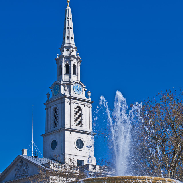 """St Martin-in-the-Fields"" stock image"