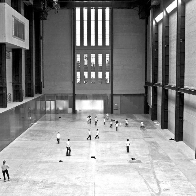 """Ball game, Tate Modern"" stock image"