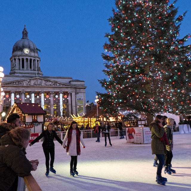"""Nottingham at Christmas"" stock image"