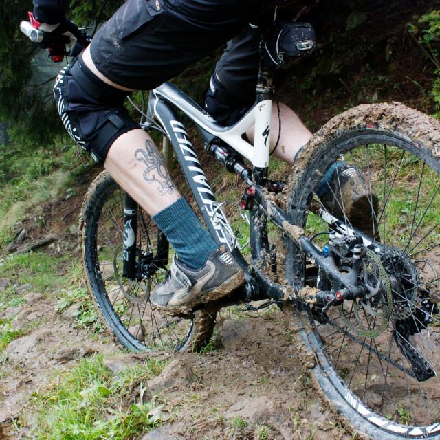 """""""muddy bike"""" stock image"""