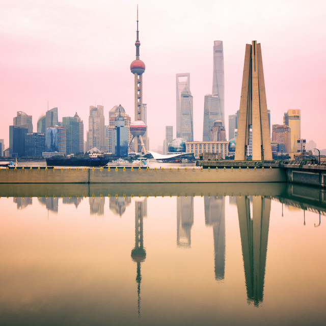 """Reflections (Pudong)"" stock image"