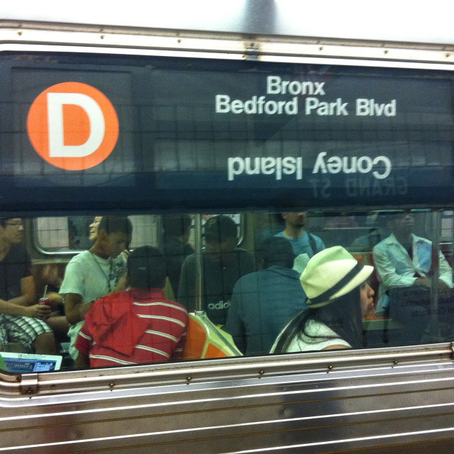 """The D train, New York"" stock image"