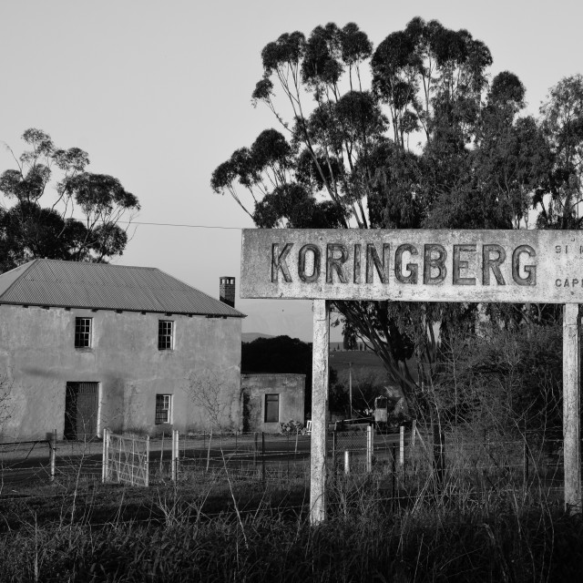 """Koringberg station, South Africa"" stock image"
