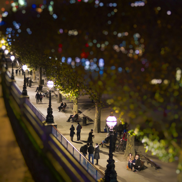 """The South Bank at Night"" stock image"
