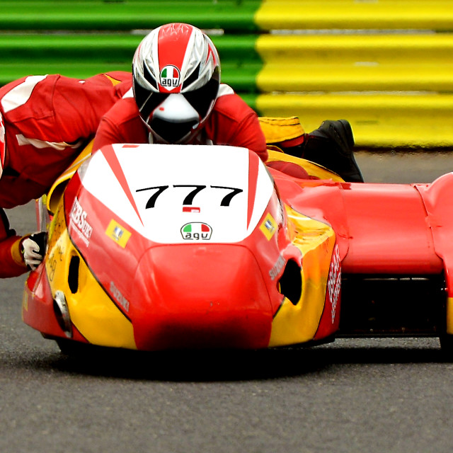"""British F1 Sidecars"" stock image"