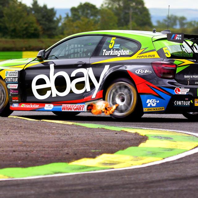 """British Touring Cars, BMW"" stock image"