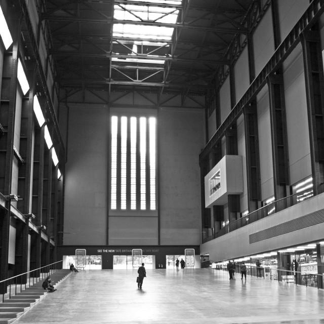 """Turbine Hall, Tate Modern"" stock image"