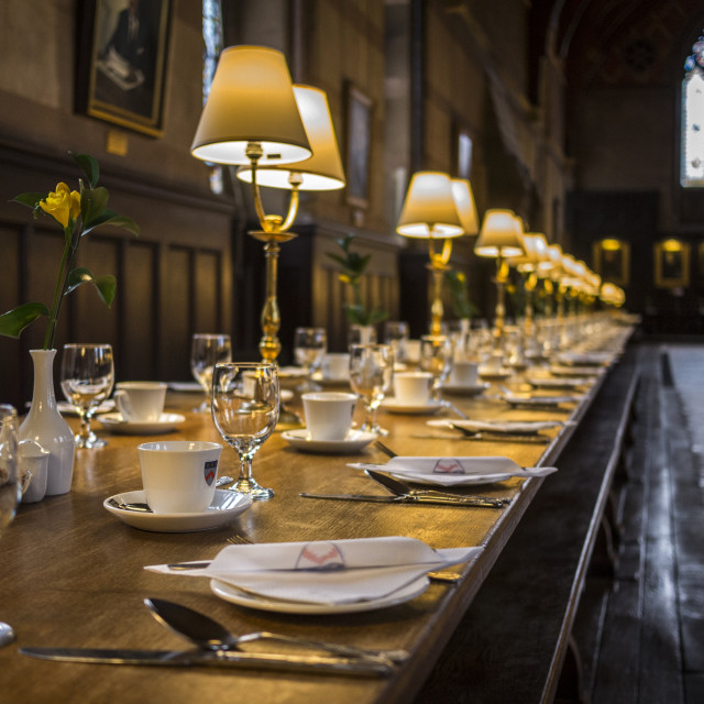 """Keble College Dining Hall"" stock image"