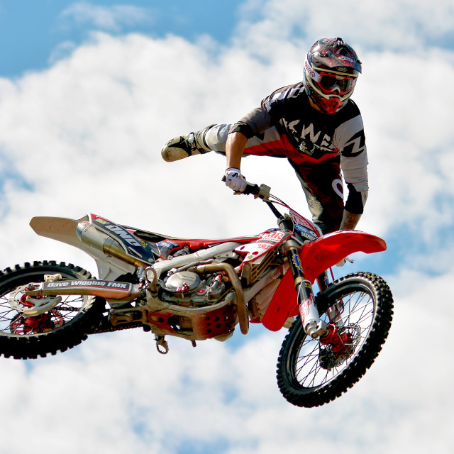 """Dave Wiggins - Motor Cross"" stock image"