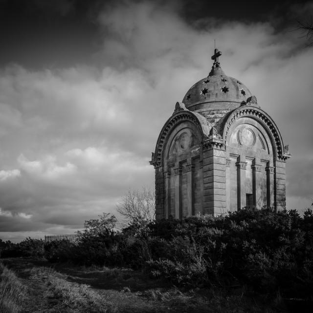 """Moody Monteath Mausoleum"" stock image"