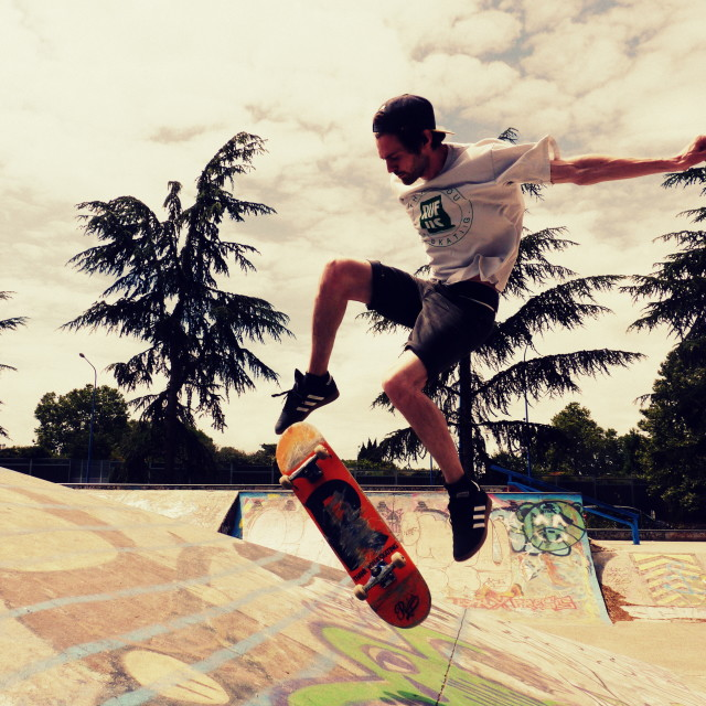 """Skate flip"" stock image"