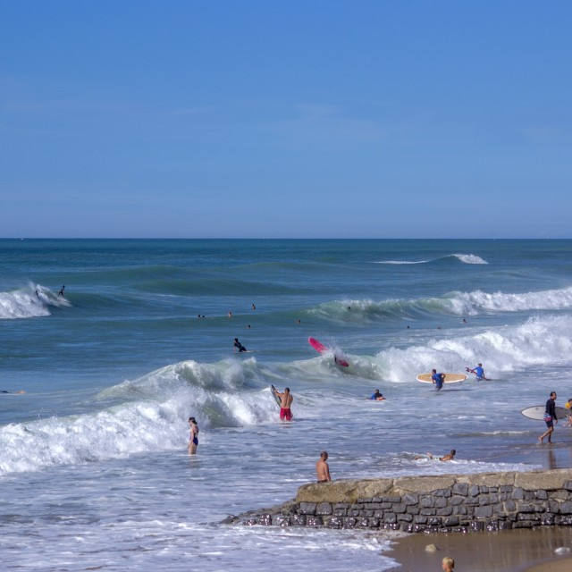 """Bidart Beach SW France"" stock image"