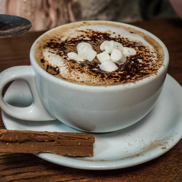 """Hot Chocolate with Marshmallows"" stock image"