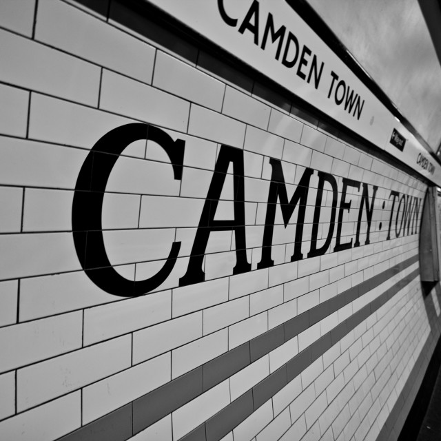 """""""Camden Town Station"""" stock image"""