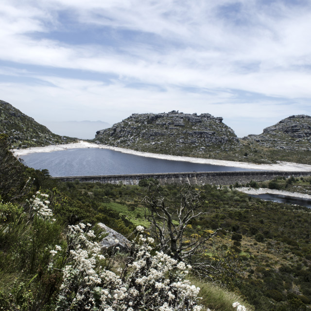 """Table Mountain Reservoir"" stock image"