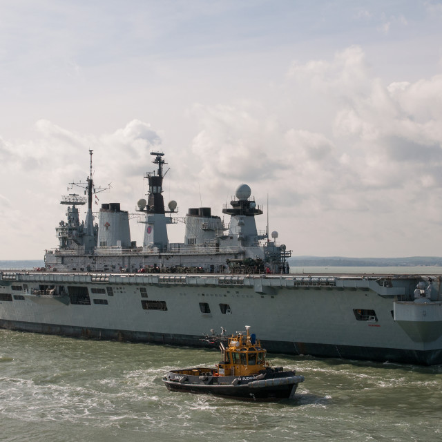 """HMS Illustrious"" stock image"