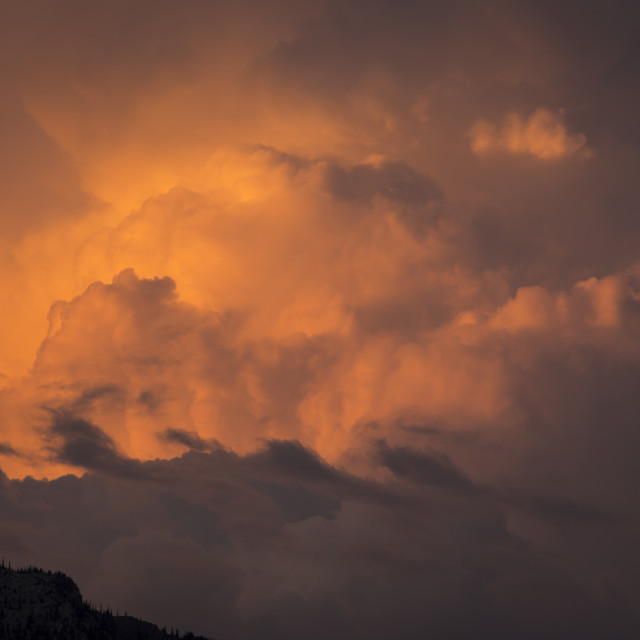 """Evening Thunderstorm Cloud"" stock image"