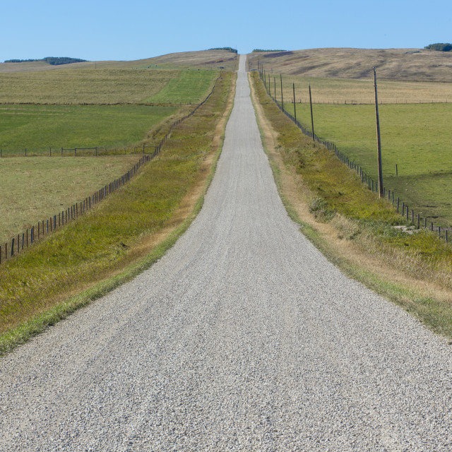"""Gravel Road in the Countryside"" stock image"