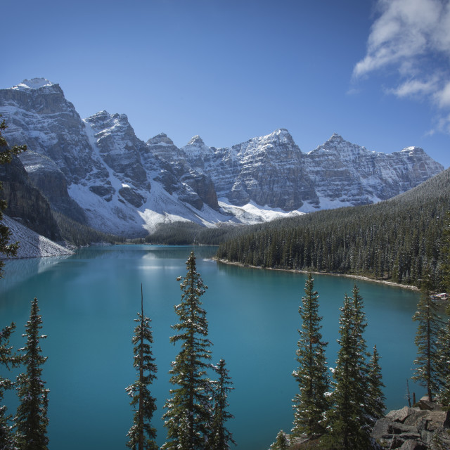 """Moraine Lake, Banff National Park"" stock image"