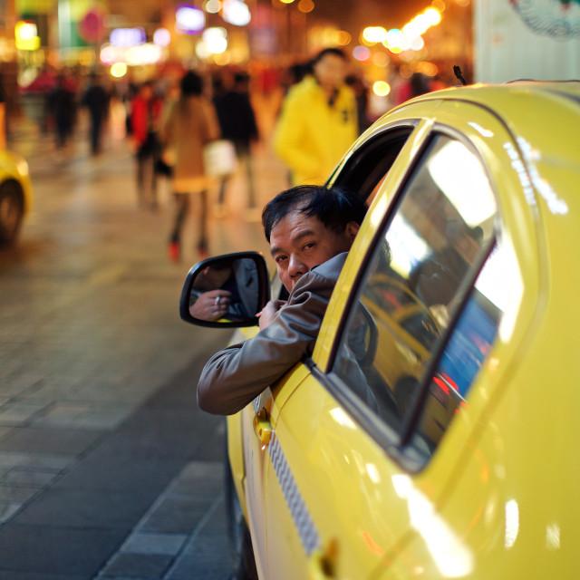 """""""badass taxi driver"""" stock image"""