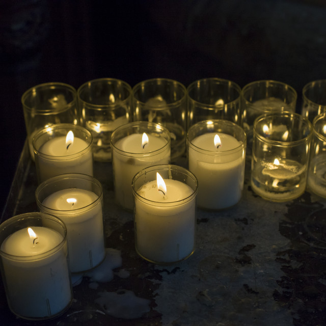 """""""Candles for christmas"""" stock image"""