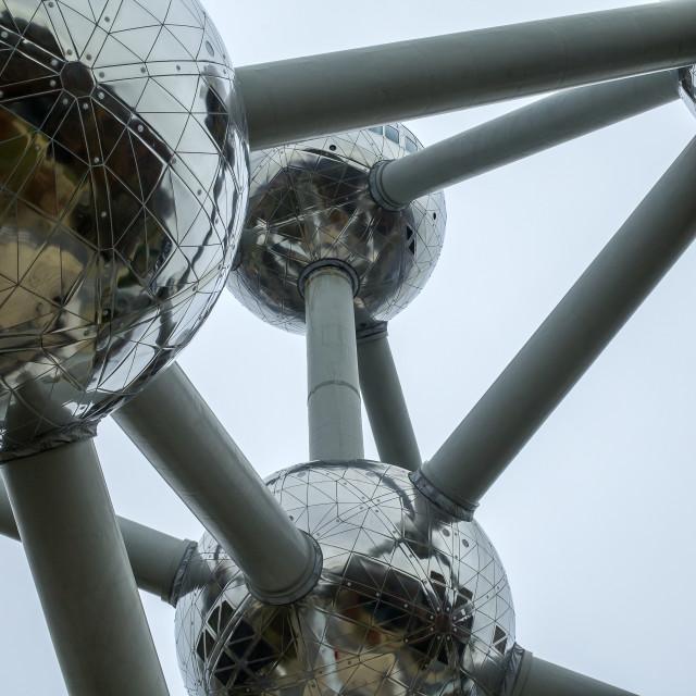 """""""Detail of the Atomium in Belgium"""" stock image"""