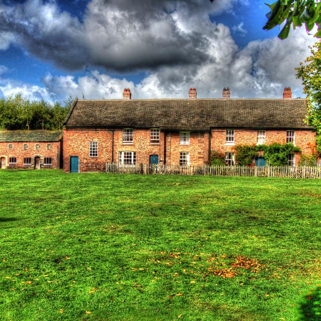 """Cottages Dunham Massey"" stock image"
