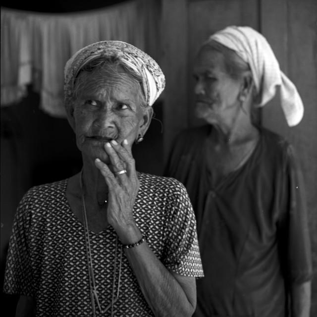 """Champa old women....."" stock image"