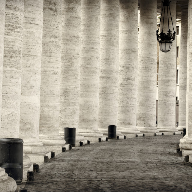 """""""Colonnade in Rome"""" stock image"""