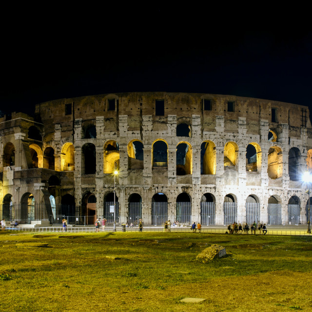 """""""Colosseum in Rome by Night"""" stock image"""