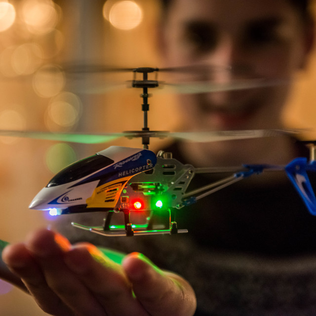 """A toy helicopter in focus"" stock image"