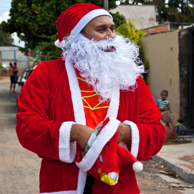 """Santa Claus on the street."" stock image"