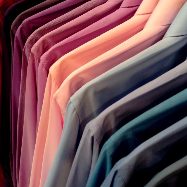 """colorful shirts"" stock image"