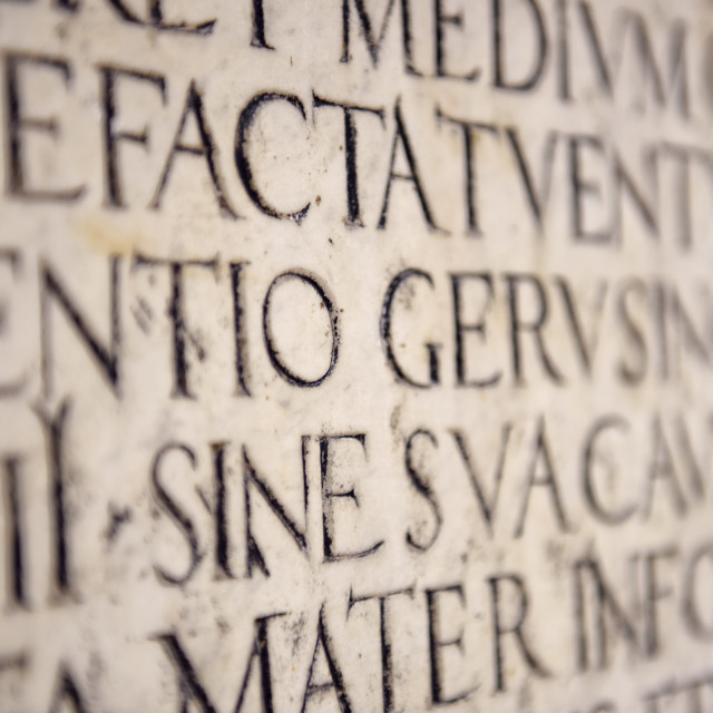 """Ancient Latin Inscription"" stock image"