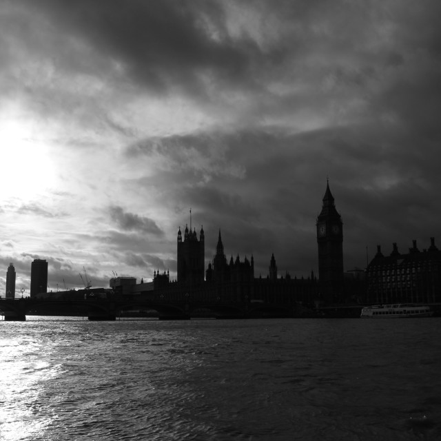 """Shadows of Parliament"" stock image"